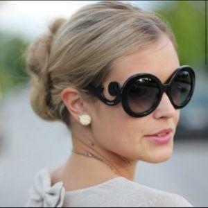 Black Prada Baroque Sunglasses